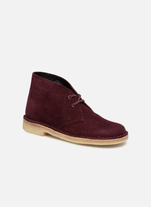 Bottines et boots Clarks Originals Desert Boot Bordeaux vue détail/paire
