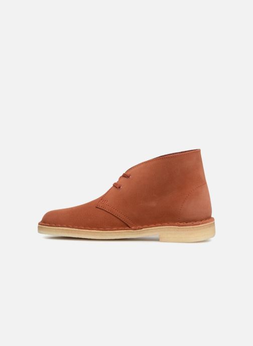 Bottines et boots Clarks Originals Desert Boot Orange vue face