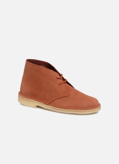 Ankle boots Clarks Originals Desert Boot Orange detailed view/ Pair view