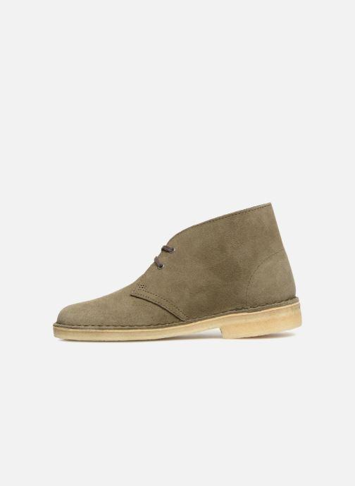 Bottines et boots Clarks Originals Desert Boot Vert vue face