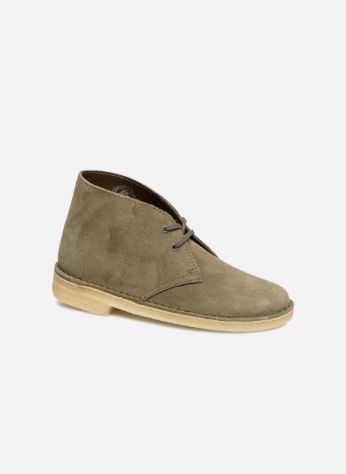Ankelstøvler Clarks Originals Desert Boot Grøn detaljeret billede af skoene