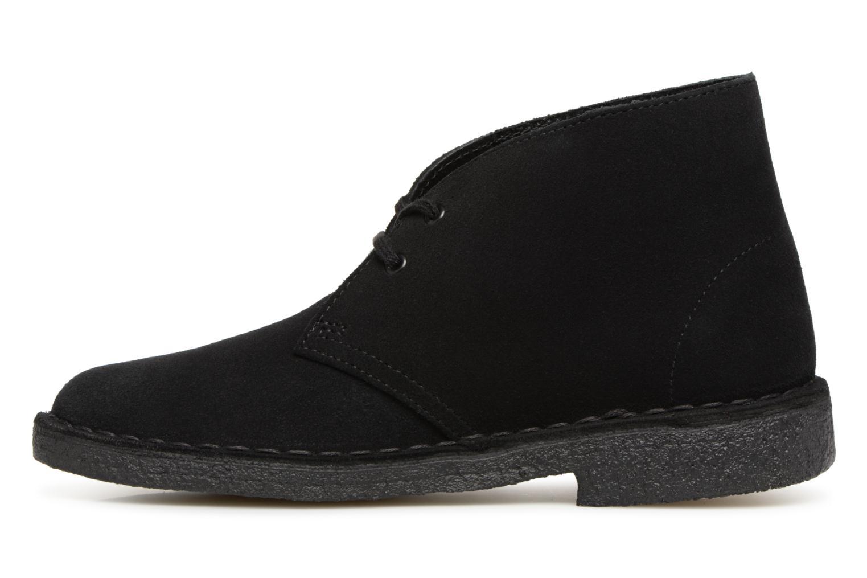 Boots en enkellaarsjes Clarks Originals Desert Boot Zwart voorkant