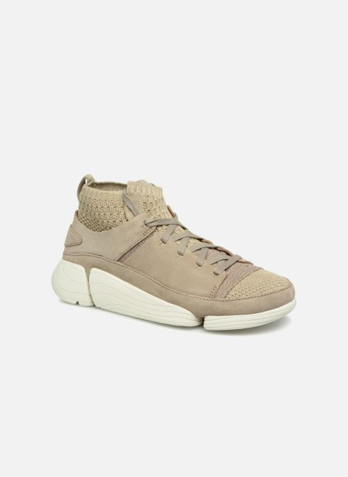 Baskets Clarks Originals Trigenic Evo. Beige vue détail/paire