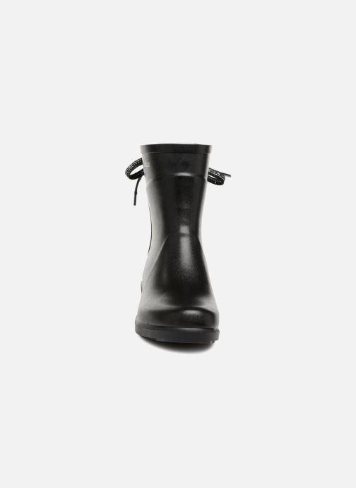 Bottines et boots Aigle Miss Juliette Bottillon Lacets Noir vue portées chaussures