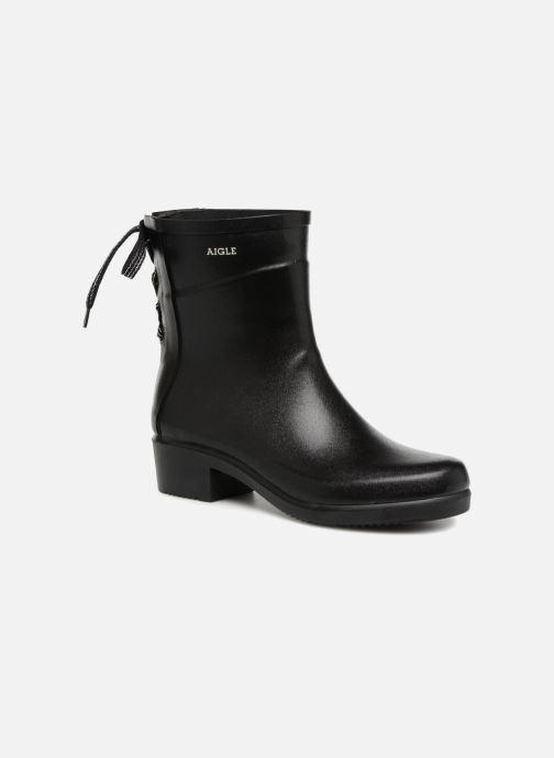 Bottines et boots Aigle Miss Juliette Bottillon Lacets Noir vue détail/paire