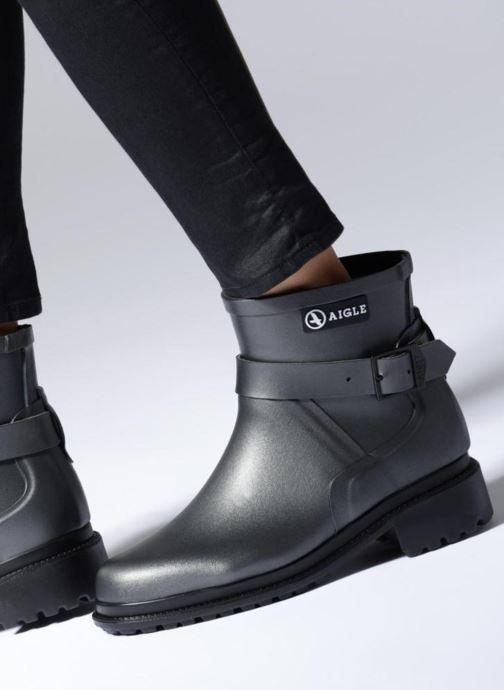 Bottines et boots Aigle Macadames Low Argent vue bas / vue portée sac