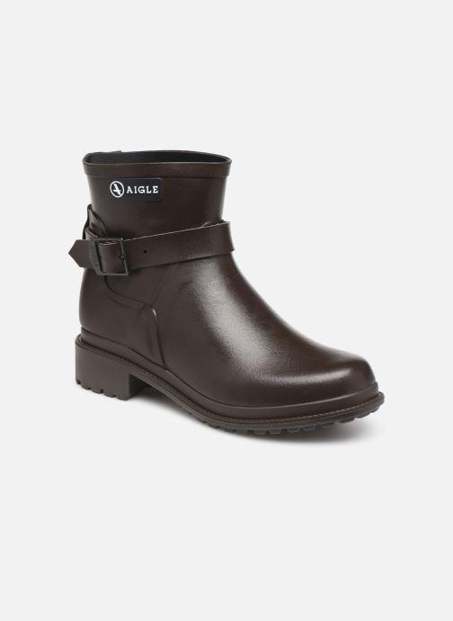 Bottines et boots Aigle Macadames Low Marron vue détail/paire