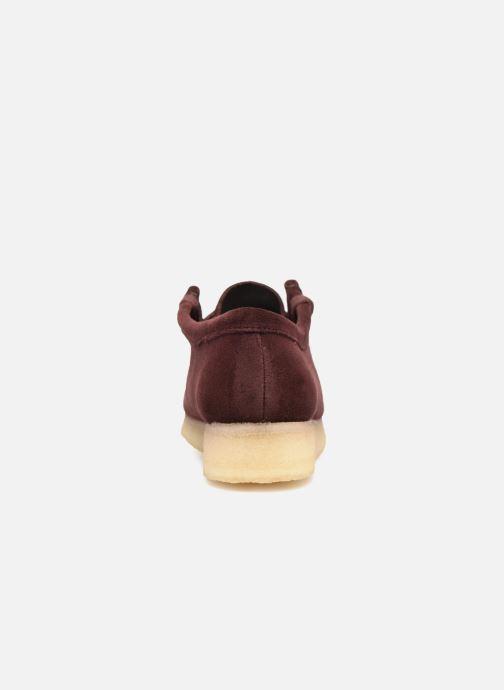Chaussures à lacets Clarks Originals Wallabee. Bordeaux vue droite
