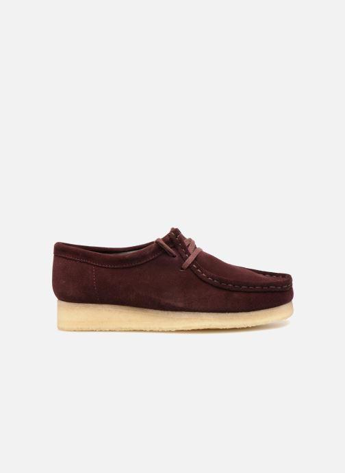 Chaussures à lacets Clarks Originals Wallabee. Bordeaux vue derrière