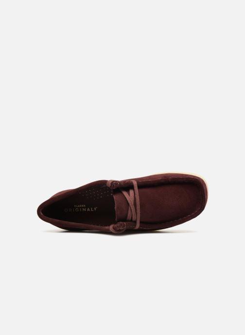 Chaussures à lacets Clarks Originals Wallabee. Bordeaux vue gauche