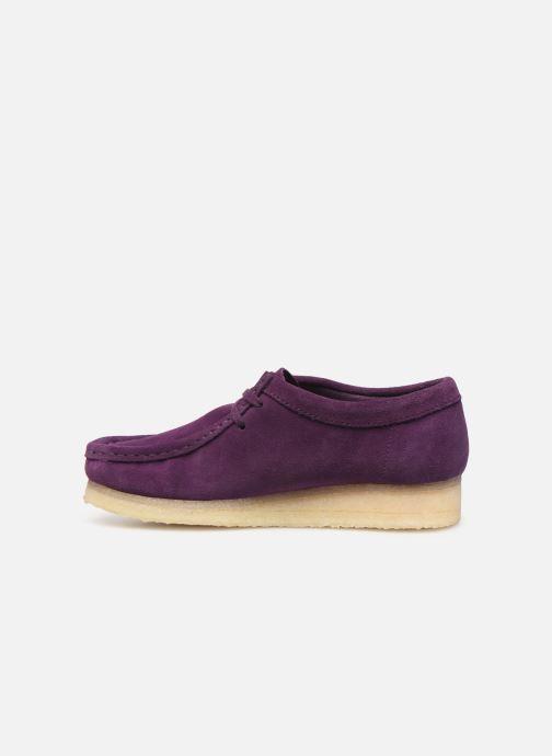 Chaussures à lacets Clarks Originals Wallabee. Violet vue face