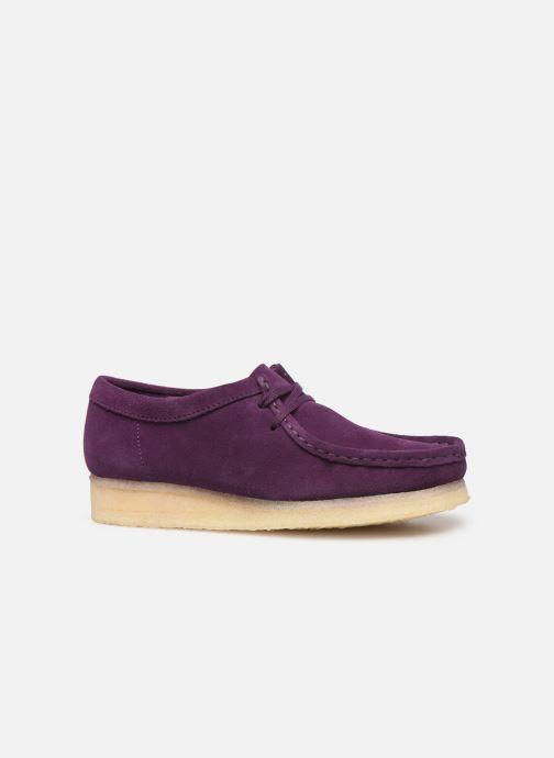Chaussures à lacets Clarks Originals Wallabee. Violet vue derrière