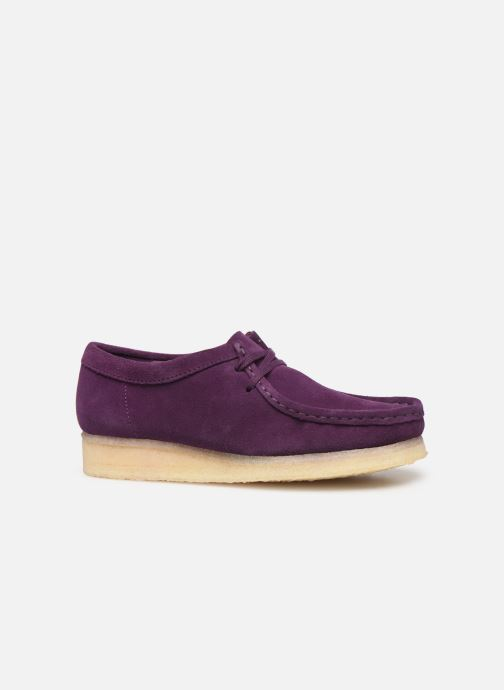 Zapatos con cordones Clarks Originals Wallabee. Violeta      vistra trasera