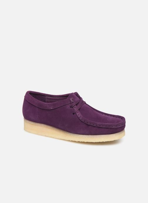 Chaussures à lacets Clarks Originals Wallabee. Violet vue détail/paire