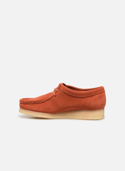 Lace-up shoes Clarks Originals Wallabee. Orange front view