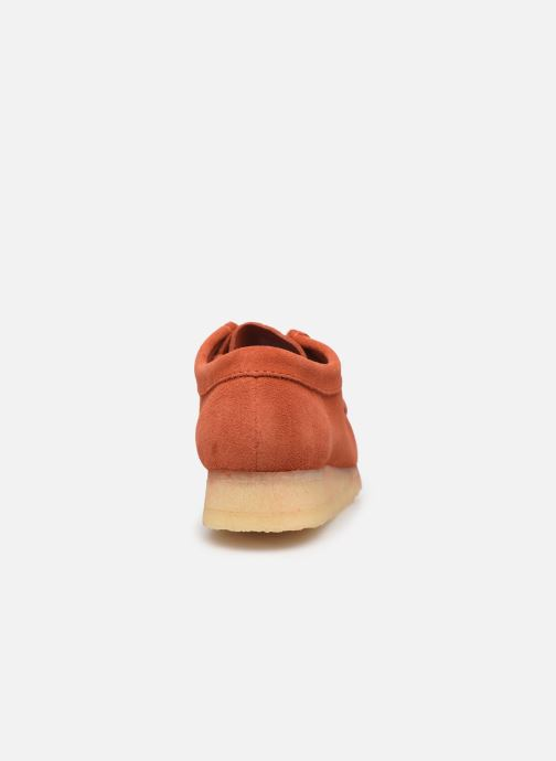 Lace-up shoes Clarks Originals Wallabee. Orange view from the right