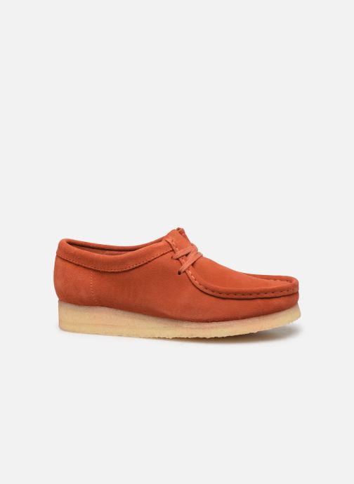 Lace-up shoes Clarks Originals Wallabee. Orange back view