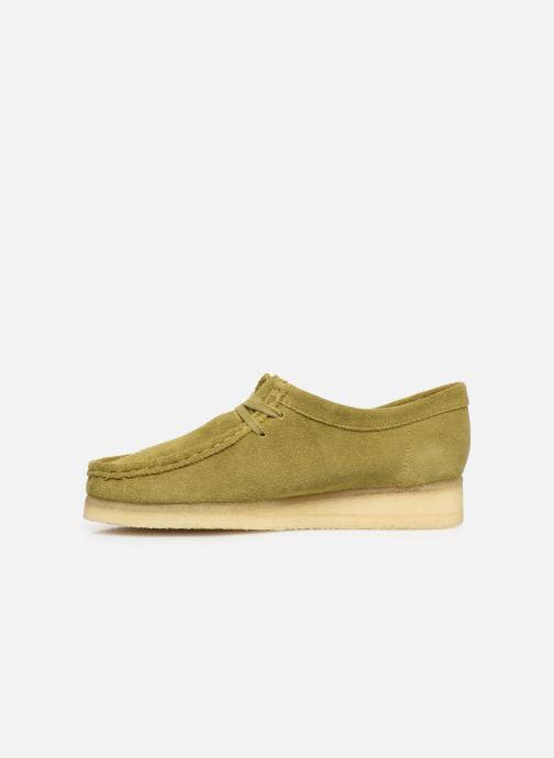 Chaussures à lacets Clarks Originals Wallabee. Vert vue face