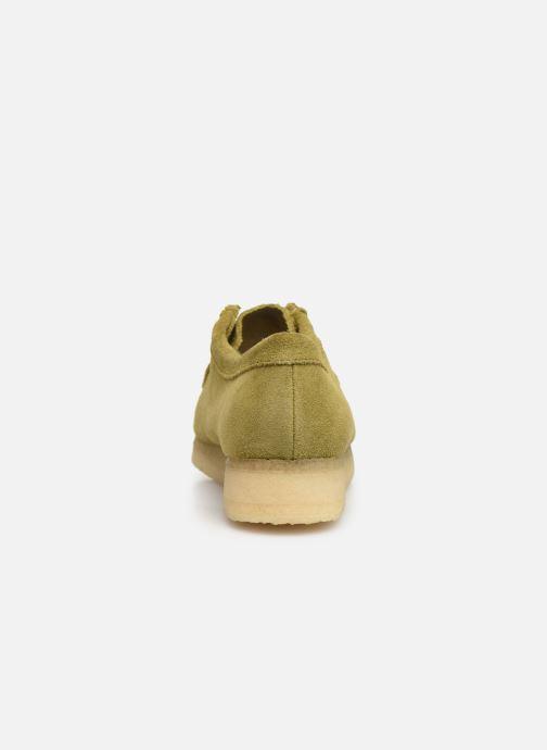 Chaussures à lacets Clarks Originals Wallabee. Vert vue droite