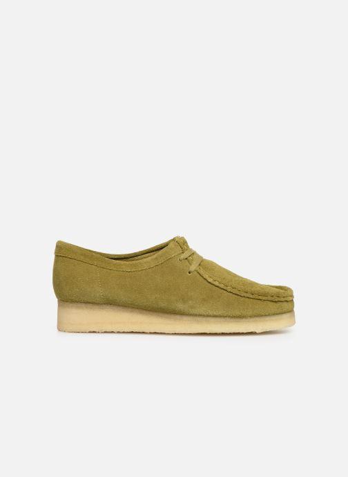 Chaussures à lacets Clarks Originals Wallabee. Vert vue derrière