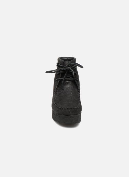 Stiefeletten & Boots Clarks Originals Wallabee Craft schwarz schuhe getragen