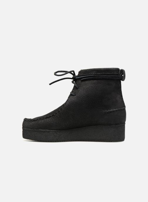 Boots en enkellaarsjes Clarks Originals Wallabee Craft Zwart voorkant