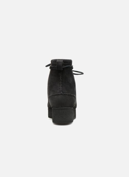 Boots en enkellaarsjes Clarks Originals Wallabee Craft Zwart rechts