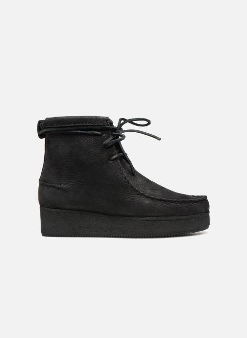 Boots en enkellaarsjes Clarks Originals Wallabee Craft Zwart achterkant