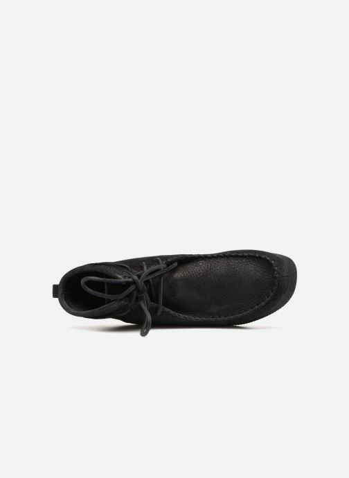 Ankle boots Clarks Originals Wallabee Craft Black view from the left