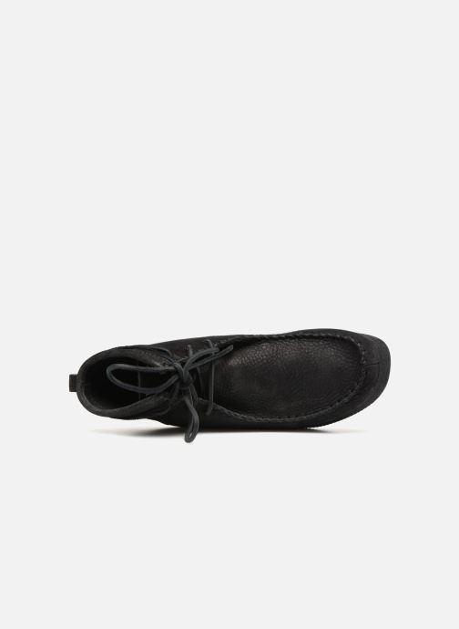 Boots en enkellaarsjes Clarks Originals Wallabee Craft Zwart links