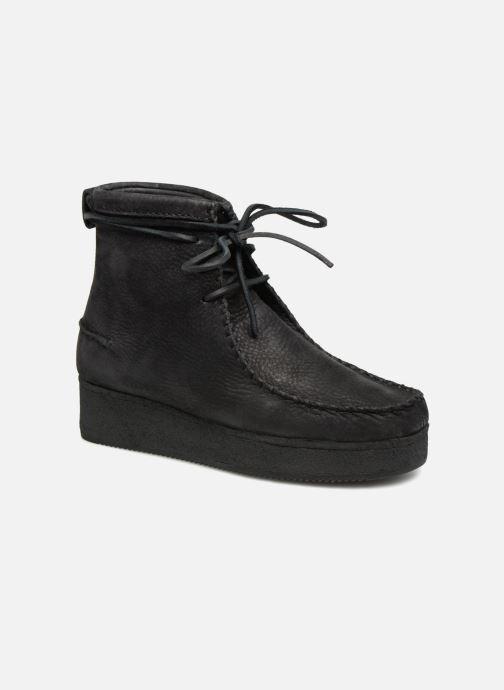 Boots en enkellaarsjes Clarks Originals Wallabee Craft Zwart detail