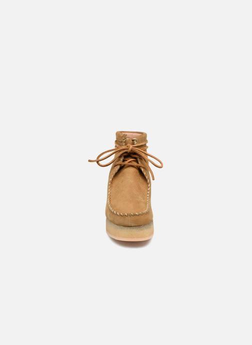 Stiefeletten & Boots Clarks Originals Wallabee Craft braun schuhe getragen