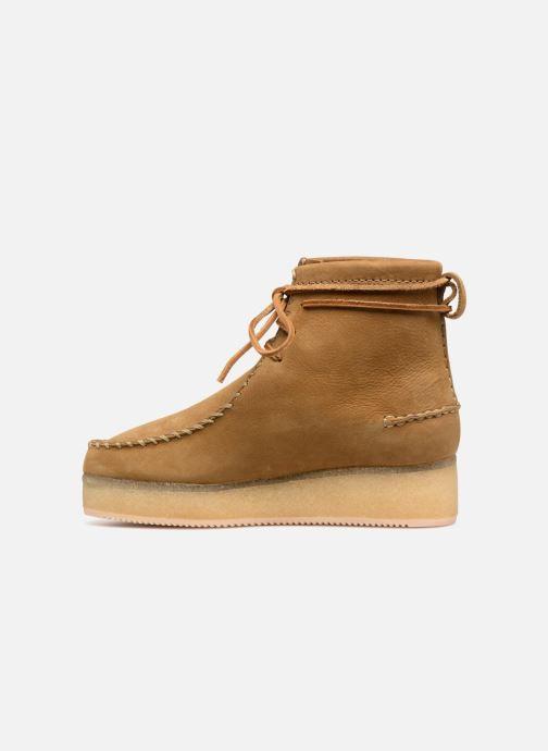 Stiefeletten & Boots Clarks Originals Wallabee Craft braun ansicht von vorne