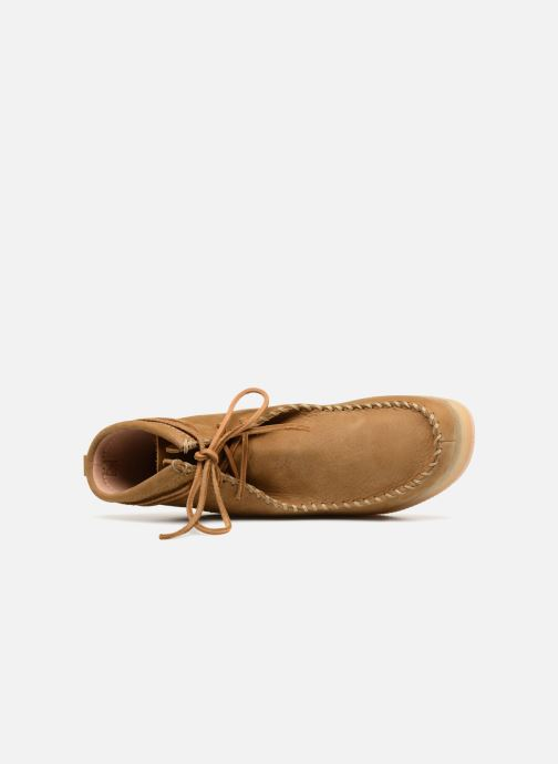 Stiefeletten & Boots Clarks Originals Wallabee Craft braun ansicht von links