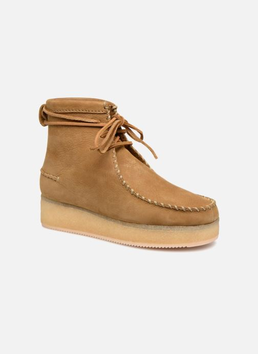 Bottines et boots Clarks Originals Wallabee Craft Marron vue détail/paire
