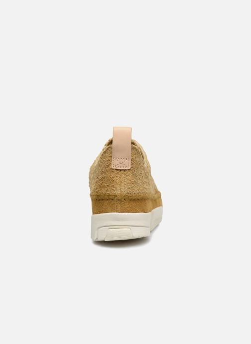 Baskets Clarks Originals Trigenic Flex. Jaune vue droite