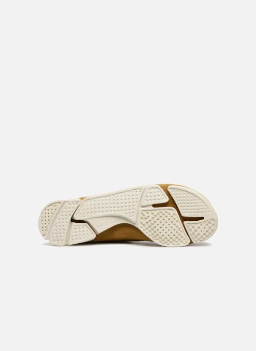 Baskets Clarks Originals Trigenic Flex. Jaune vue haut