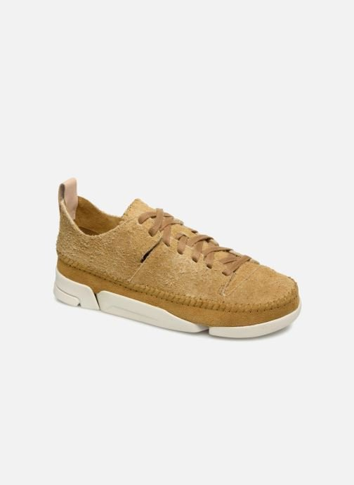 Baskets Clarks Originals Trigenic Flex. Jaune vue détail/paire
