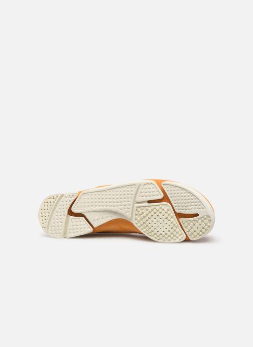 Baskets Clarks Originals Trigenic Flex. Jaune vue haut