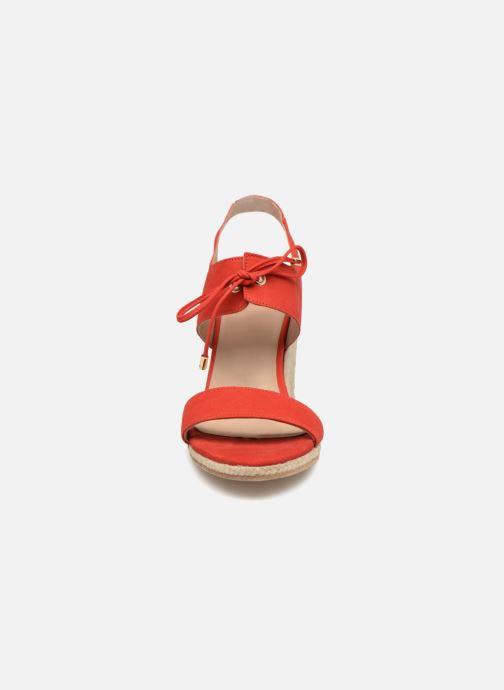 Espadrilles Bobbies L ESTIVALE Rouge vue portées chaussures