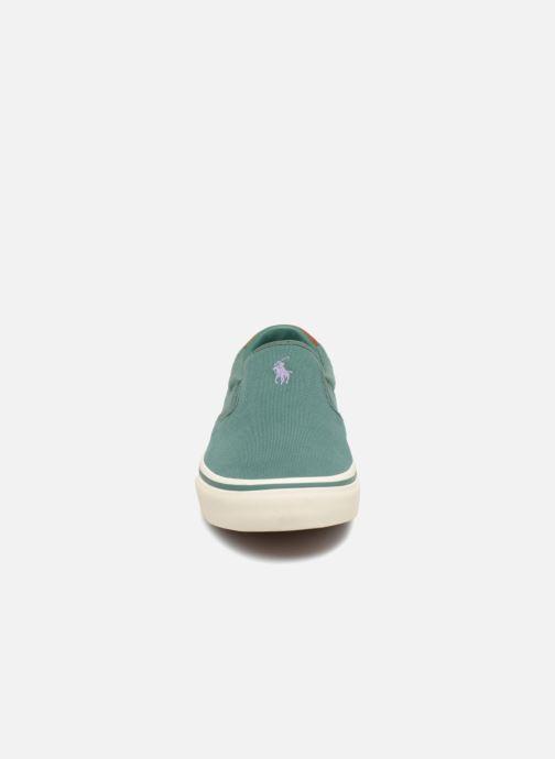 Baskets Polo Ralph Lauren Thompsoniine Vert vue portées chaussures