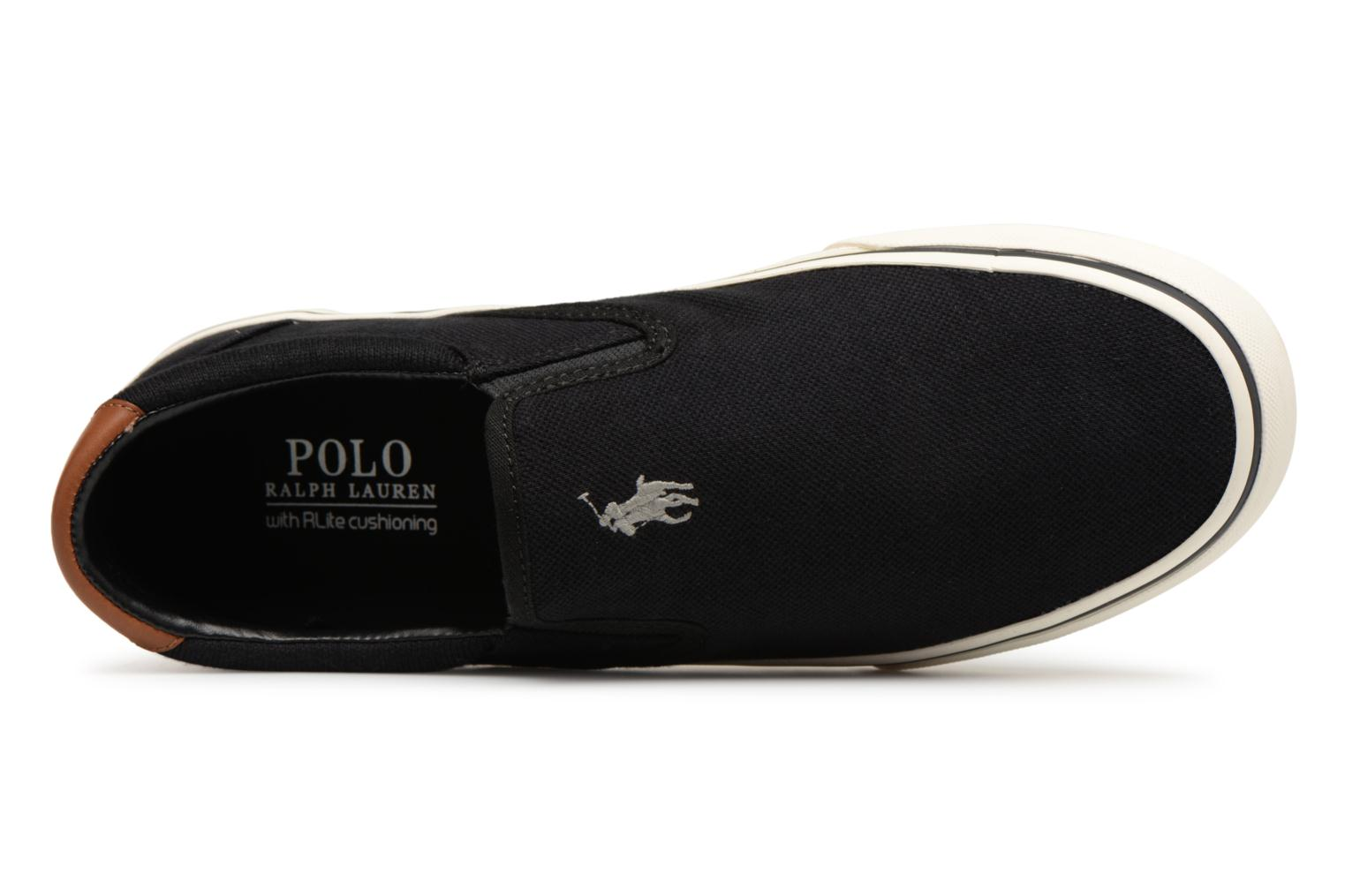 Baskets Polo Ralph Lauren Thompsoniine Noir vue gauche