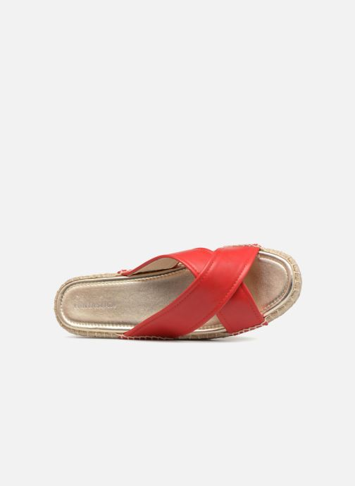 Mules & clogs Compania Fantastica Sandales compensées Satinash Red view from the left
