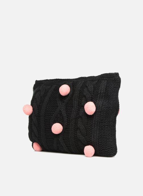 Wallets & cases Compania Fantastica Pochette en maille pompons Black model view