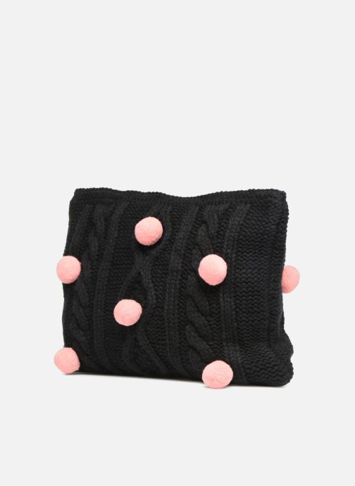 Wallets & cases Compania Fantastica Pochette en maille pompons Black view from the right