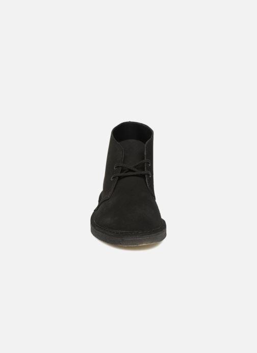 Botines  Clarks Originals Desert Boot M Negro vista del modelo