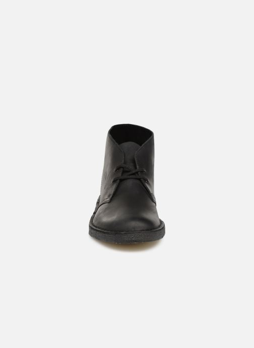 Stiefeletten & Boots Clarks Originals Desert Boot M schwarz schuhe getragen