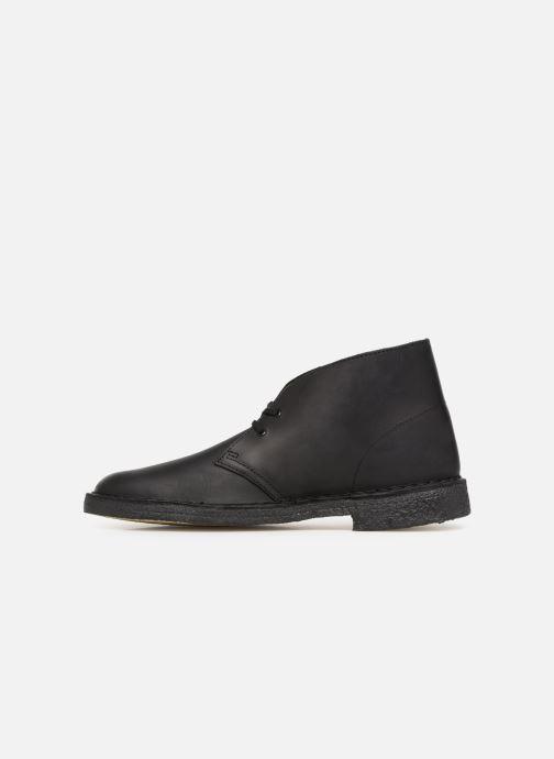 Stiefeletten & Boots Clarks Originals Desert Boot M schwarz ansicht von vorne