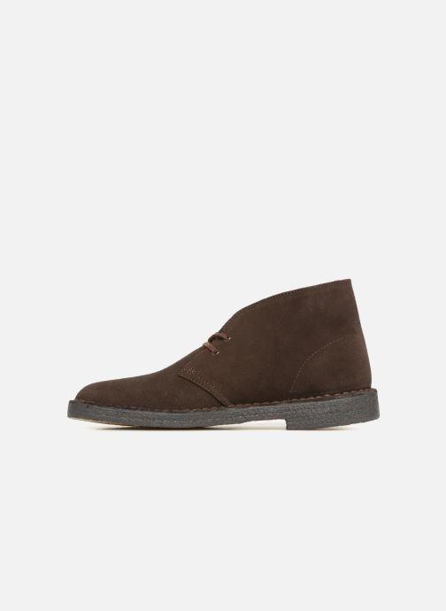 Boots en enkellaarsjes Clarks Originals Desert Boot M Bruin voorkant