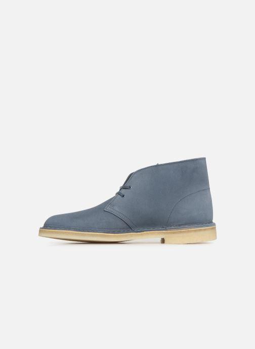 Boots en enkellaarsjes Clarks Originals Desert Boot M Blauw voorkant